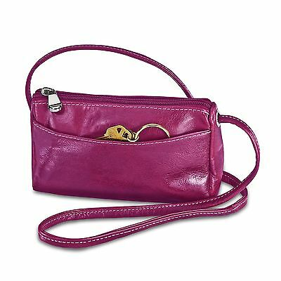 David King Florentine Top Zip Mini Bag 3501 Fuchsia Fuchsia One Size New
