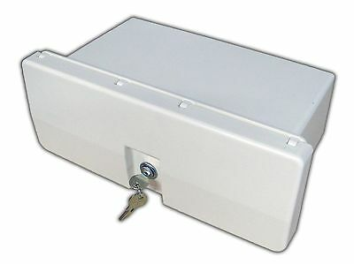 Marine White Locking Glove Box - Storage Locker for Boat & Rave . Five Oc... New