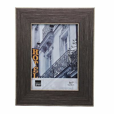 Kiera Grace Emery Picture Frame 5 by 7-Inch Brushed Pewter New