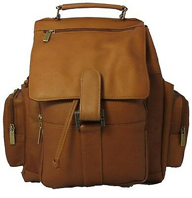 David King & Co. Top Handle X-Large Backpack Tan One Size New