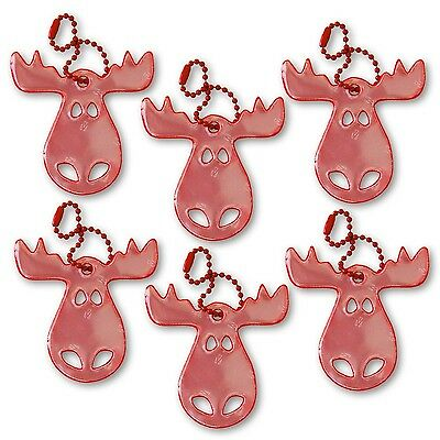 funflector Safety Reflector - Moose - Red - 6-pack Red-6-pack New