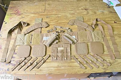 27 Pc U.s.m.c. Molle Ii Belt Coyote Brown Most Pieces Are Brand New Read Listing