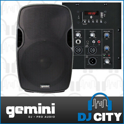"Gemini AS-08 Powered 8"" PA DJ Speaker with Bluetooth / MP3 Player / LEDs"
