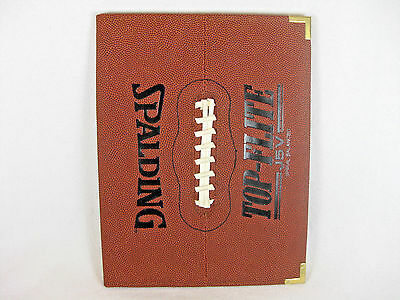 New Spalding Top-Flite J5V Football Skin Portfolio/Notepad