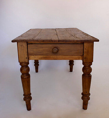 Antique English Pine Dining Table or Desk c1880