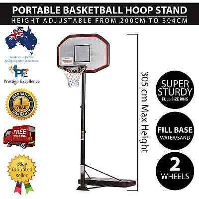 Adjustable Portable Basketball Hoop Stand Goal System Pro Outdoor Backboard Ring