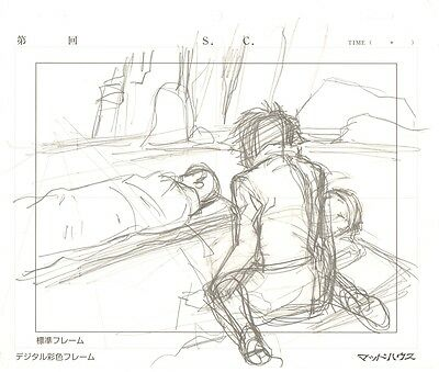 Anime Genga not Cel Wolf's Rain 3 pages #2