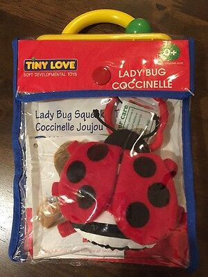 Tiny Love Lady Bug Coccinelle Squeaker Toy Baby & Toddler, NWT, 0+ Month Soft