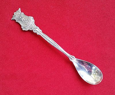 Vaals Netherlands Silverplate Souvenir Spoon with Coat of Arms