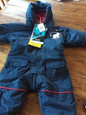 Blue Baby Ski Suit snow 0 - 6 months Brand New With Tags Winter Outfit