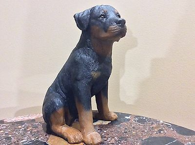 "Vintage Rottweiler Dog figurine 9.5"" Tall"