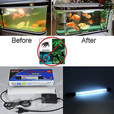 Aquarium Fish Pond Tank Submersible Light UV Sterilizer Lamp for All Water Clean