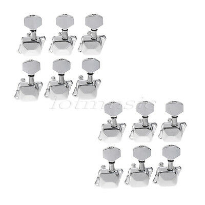 12L Semiclosed Electric Acoustic Guitar Chrome Tuning Pegs Tuners Machine Heads