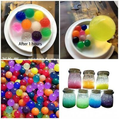 50 Pcs 50-80mm Water Plant Flower Jelly Crystal Soil Mud Gel Pearls Beads Balls