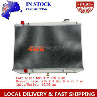 Turbo Diesel Aluminium Radiator FOR Nissan Navara D22 07-ON 2.5L YD25 AT/MANUAL