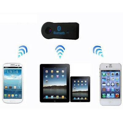 Wireless Bluetooth 3.5mm Stereo Aux Audio Mp3 Music Home Car Adapters Receivers