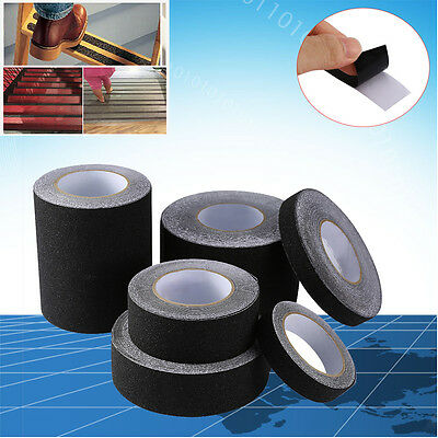 60′ BLACK Roll Safety Non Skid Tape Anti Slip Tape Sticker Grip Safe Grit 2″-6″
