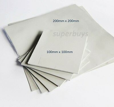 100 x 100 1.5mm Silicone Thermal Pad Sheet CPU Computer Chip Heatsink Silicon GB