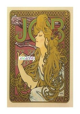 Vintage Style French Art Nouveau Advertising Poster: Job Cigarette Papers: A4