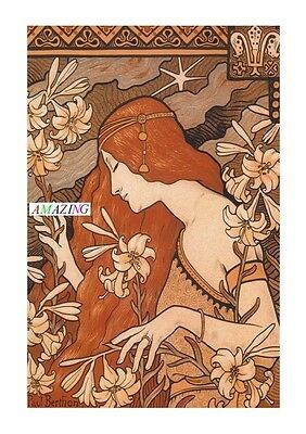 Vintage Style French Art Nouveau Advertising Poster: The Hermitage - Berthon: A4
