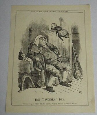 Antique Print 1884 Punch Or The London Charivari 'the Bumble Bee'
