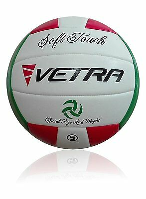 Vetra Volleyball Soft Touch Volley Ball Official Size 5 Outdoor Indoor Beach Gym