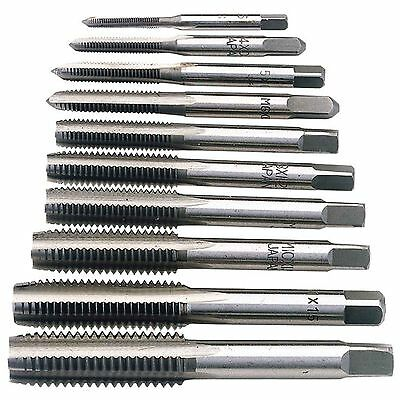 Draper Metric Hand Tap Set - 10 Piece, 3mm - 12mm, Carbon Steel, Threaded