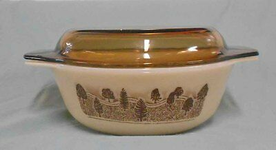 Vintage Pyrex, Milk Glass  Pyrex England 'Rustic' Casserole Dish with lid.