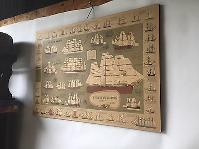 Vintage Nautical Print Cutty Sark On Board & Backing Frame - BUY NOW.