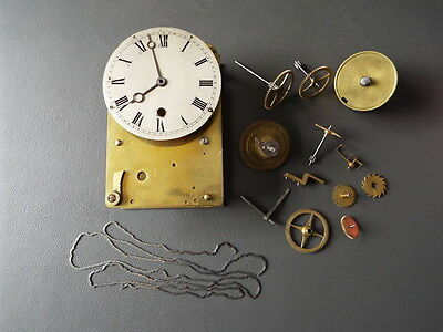 Job lot of mainly vintage fusee clock parts Norman Pimlico - spares and parts