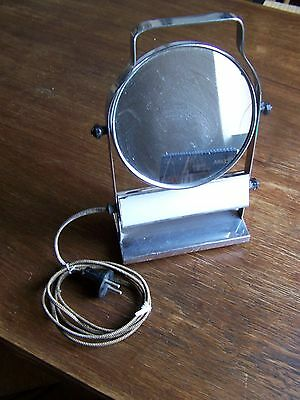 Rasier- Spiegel beleuchtet  / Shaving stand with mirror and lamp (ca. 1920)
