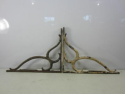 2 Vintage Cast Iron Sink Brackets