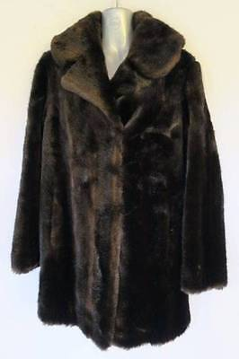 Vintage Stephen Dattner Dynamink Simulated Fur LS Womens Coat Jacket Size 12