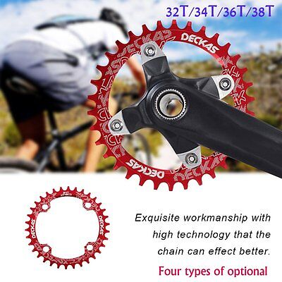 DECKAS Narrow Wide Bike MTB Round Oval Chainring Chain Ring Single Plate TMOJ