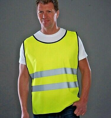 Yoko Hi Vis Adult Tabard Yellow Orange Bib High Viz Sports EN471 Vest (HVJ269)
