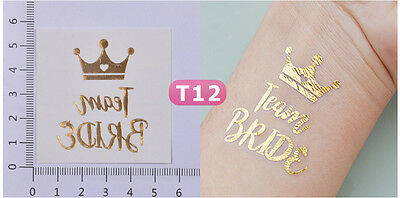 16 x Team Bride tattoo with tiara Hen Party tattoos Bachelorette Party tattoos
