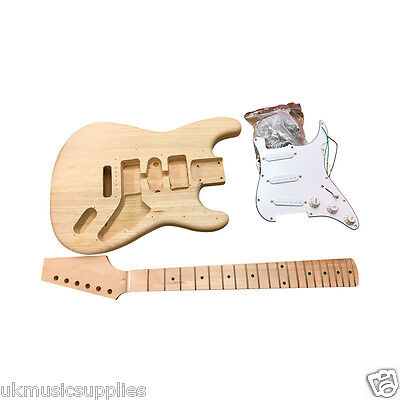 Coban DIY Electric Guitar Kit HY280 Solid Ash Body White fitting