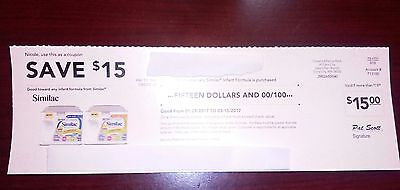 One $15 Similac Coupon  Exp 6/08/17