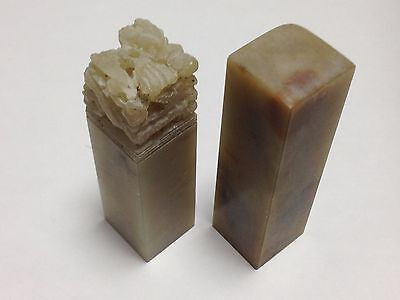 Amazing Rare Asian carving stone seal stock from Japan
