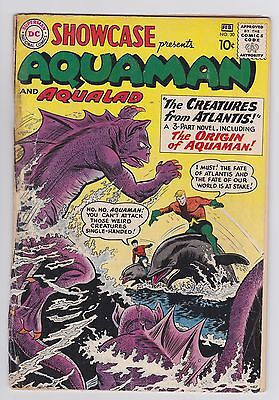 Showcase #30 1st Aquaman Silver Age DC tryout! Hot book -- Justice League movie!