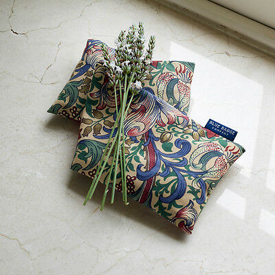 Lavender Wheat Warmer Microwavable Heated Bag in William Morris Golden Lily