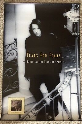 """Tears for Fears Poster Promo 24""""X36"""" 1995 Raoul & The Kings Of Spain Mint"""