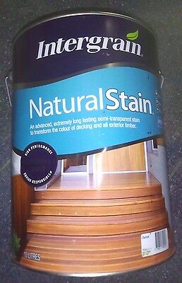 DECKING TIMBER CHARCOAL WATER BASED Intergrain NaturalStain 10L C55 CAN FREIGHT