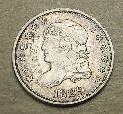 U.S. 1829 Bust Half Dime with initials