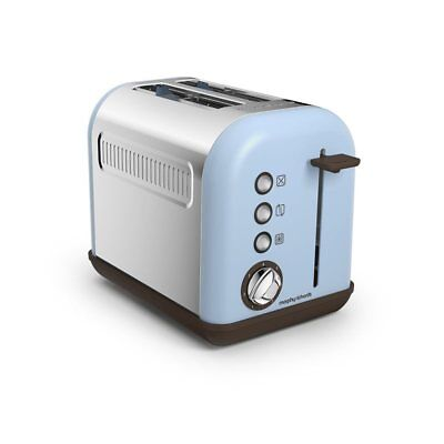 Morphy Richards Accents Retro 2 Slice Toaster In Azure With Defrost & Reheat
