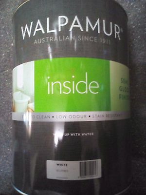 Walpamur Semi Gloss 10L White Paint Can Freight Low Odor Easyclean Acrylic C60