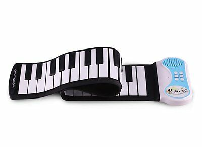 Original Konix PN49S MIDI OUT 49 Keys Roll Up Electronic Piano As Gift Blue