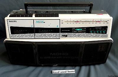 PHILIPS D 8304 /00T vintage Stereo Boombox Ghetto Blaster radio cassette player
