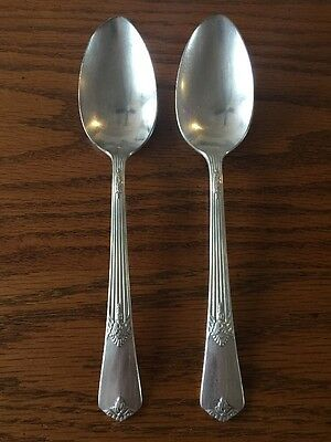 Silver Plated Dessert Or Oval Soup Spoons Guild Pattern 1932 Rogers & Son