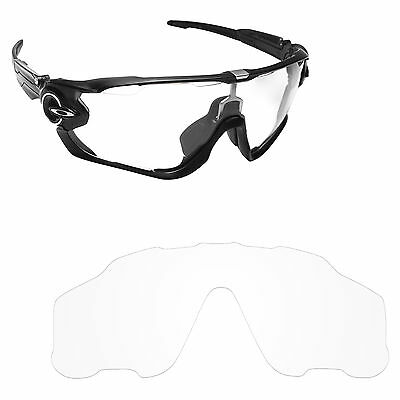 Hawkry Replacement Lenses for-Oakley Jawbreaker Sunglasses HD Clear